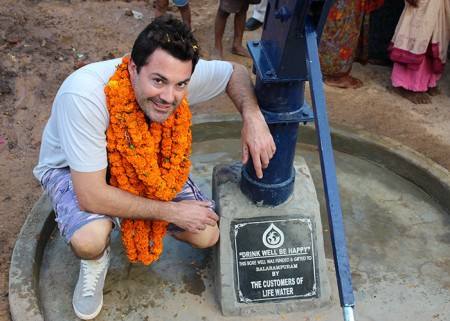 Drop4drop & Life water co-founder Lucas White at the Balarampuram community well