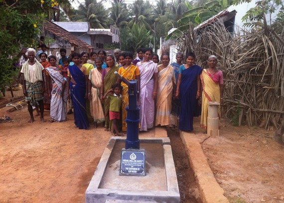 The Bapabhupalapatam community with their new well