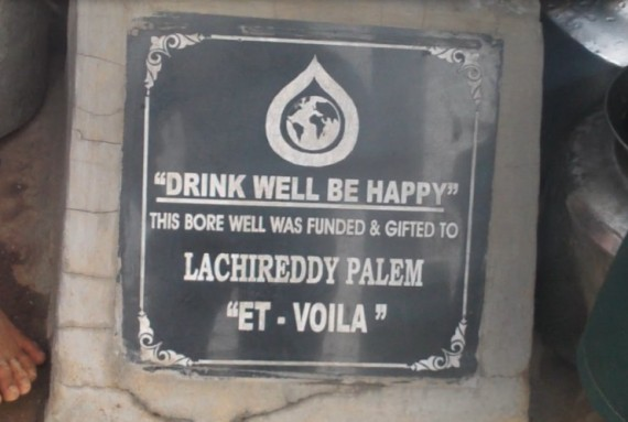A close-up of the Lachireddypalem plaque