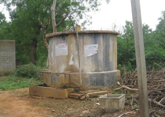 Old water source: a small tank, which is rarely filled