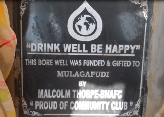 A plaque on the well commemorates the contribution made by Malcolm Thorpe