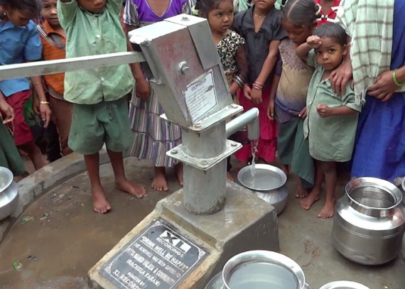 The Pittamandi community with their new well