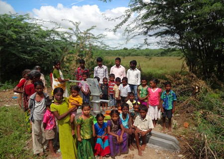 The Tippanapalli community around their new well