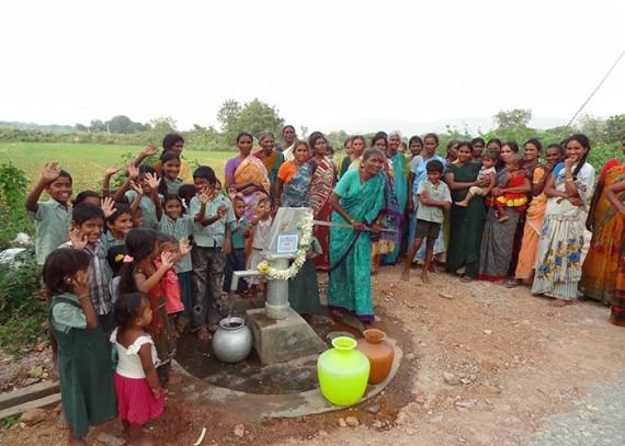 The Ayyavaripalli community around the Infinity Foods well