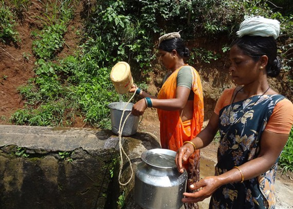 Old water source; unprotected, unreliable and not safe for consumption