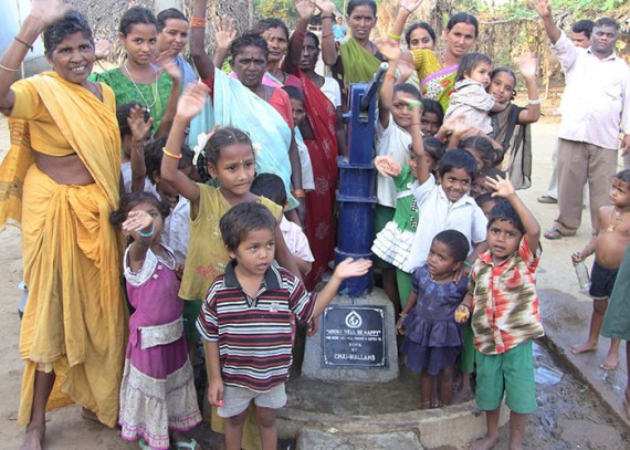 The Koya community with their new well