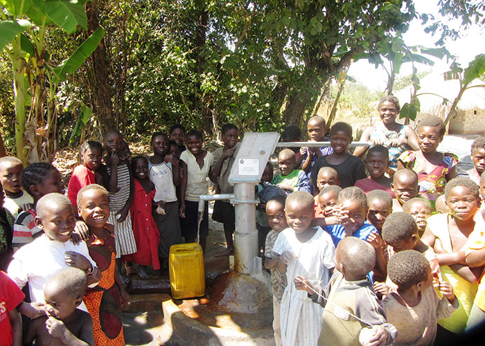 The Kabati community with their new well