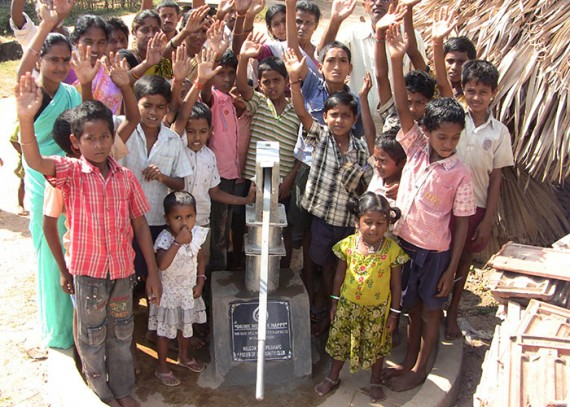 The Mulagapudi community with their new well