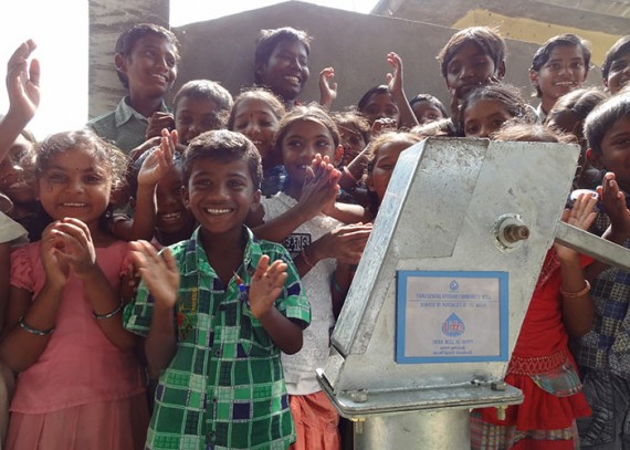 The village children are now provided with clean, safe water