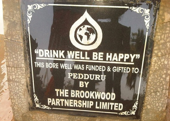 A plaque on the well commemorates the contribution made by Brookwood