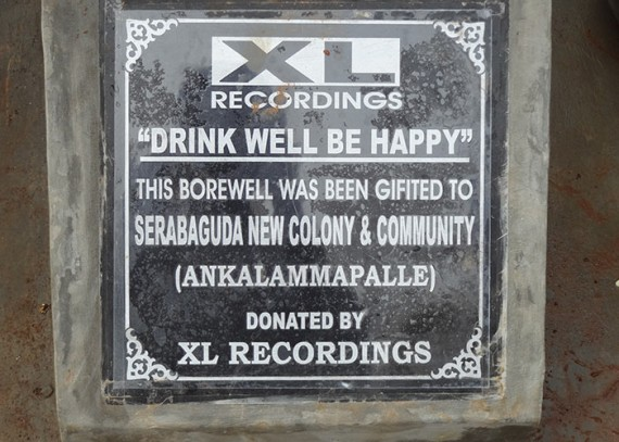 Plaque close up  - XL Recordings