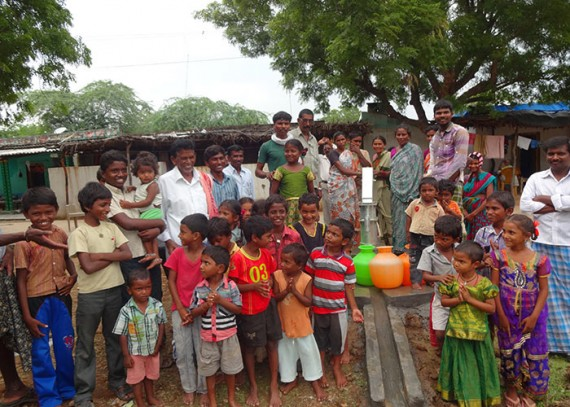 The Tippanapalli community with their new well