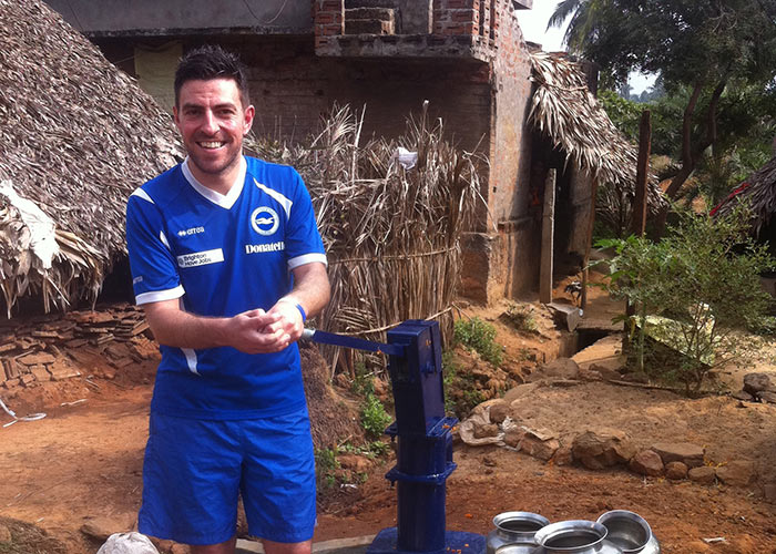 Carl at one of the AITC sponsored wells
