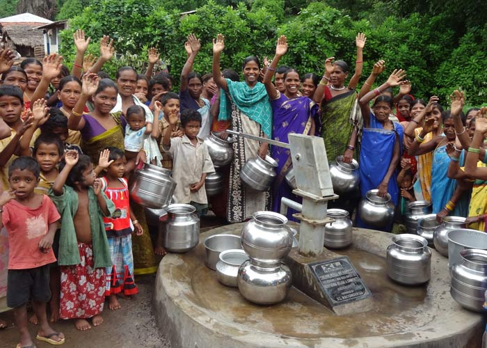 whole community with water