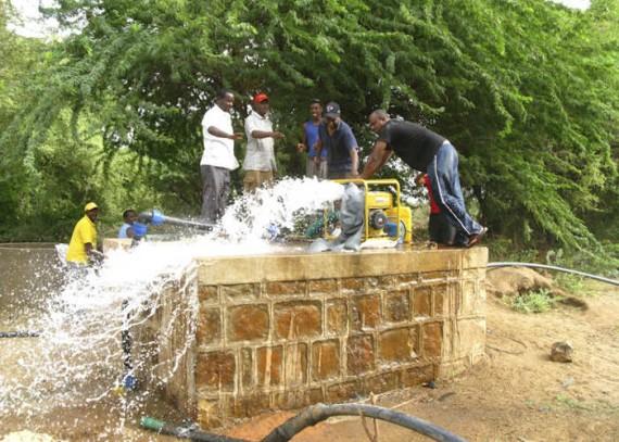 Kenya emergency relief 2011 Christian Aid Pump Working