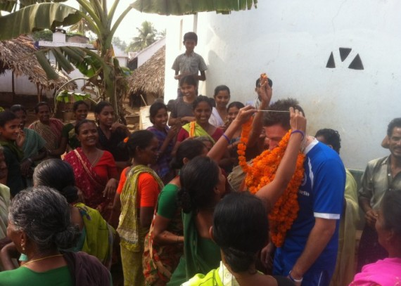 The Santha Pydipala community giving Carl from AITC a warm welcome