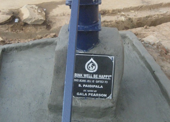 A plaque on the well commemorates the contribution made by Gala Pearson