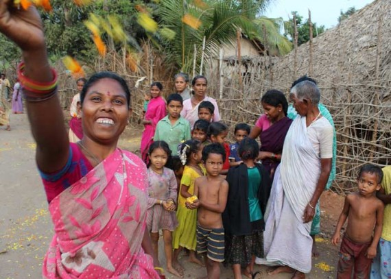 The people of S. Paidipala celebrate their new water source
