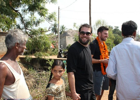 Simon Konecki, Life water & drop4drop founder, visiting the Bapabhupalpatnam community
