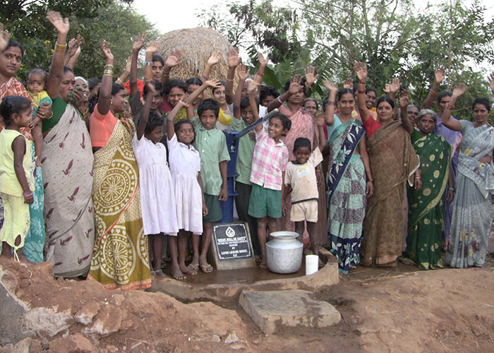 The Nadiri community with their new well