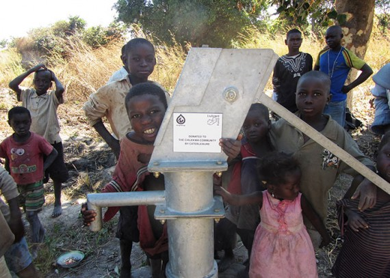The children of the Chilekwa community with their new well