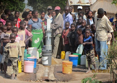 The Maunga community with their new well