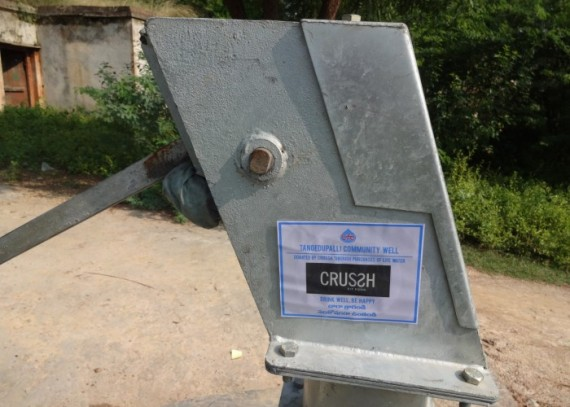 Thanks to CRUSSH, the people of Tangedupalli can enjoy clean, safe water