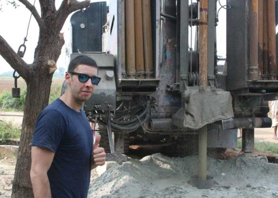 Elliot at the drilling of the Epic well