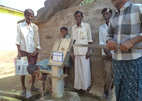 The water from the well is clean and healthy