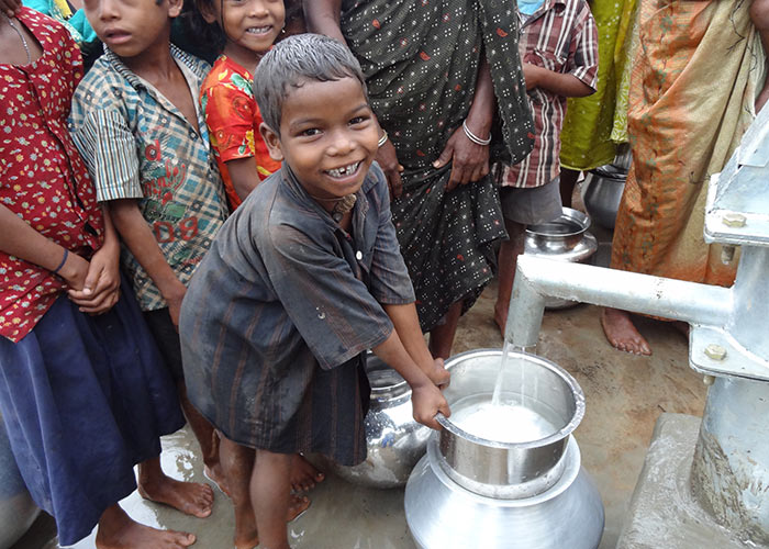 Fresh clean water at the heart of the community