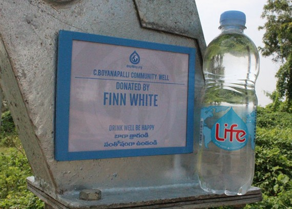 A plaque on the well commemorates the contribution made by Finn White