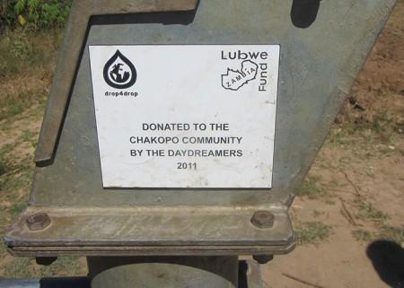 Close up of plaque