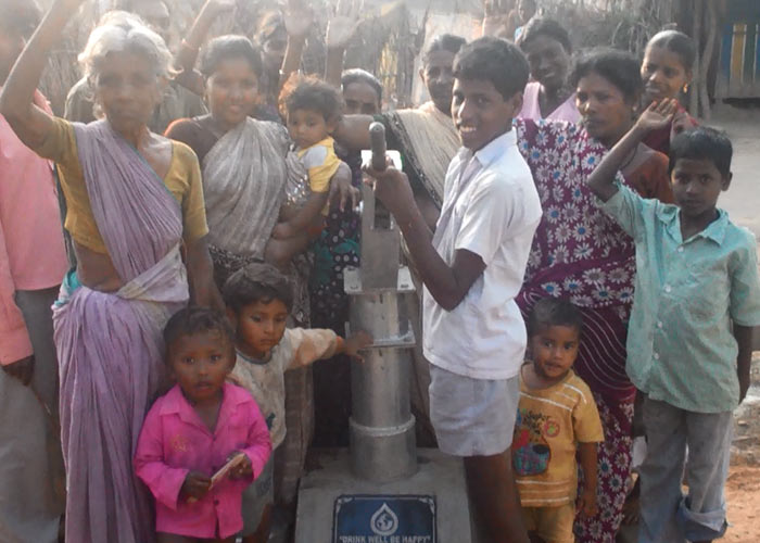 The people of Nalam with their new well