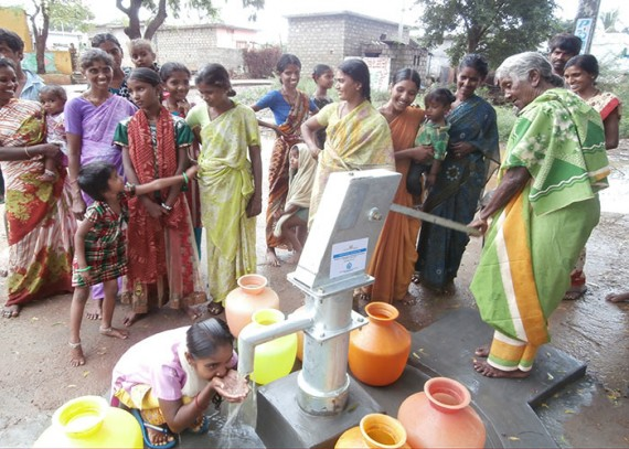 The water from the well is clear and healthy