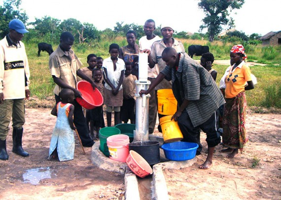 The Katapa community with their new well