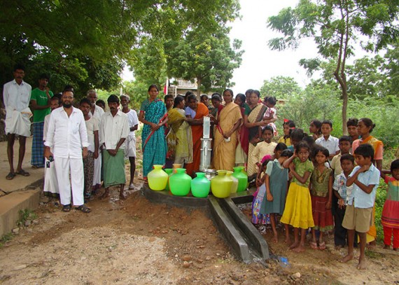The Kothagajulapalli community with their new well