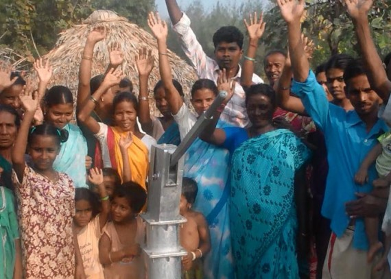 The Latchireddipalem community with their new well