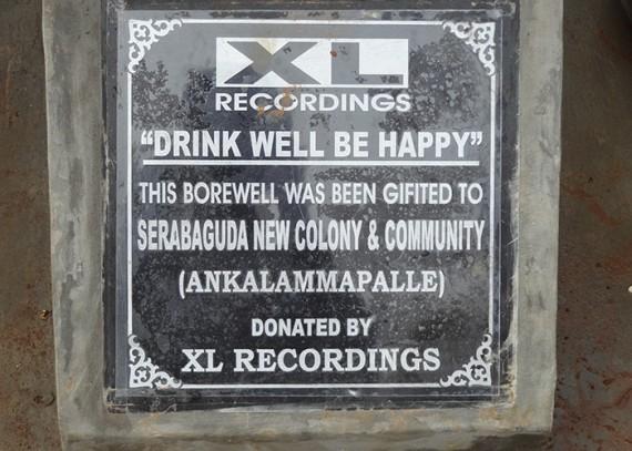 Plaque close up  - XL Recordings