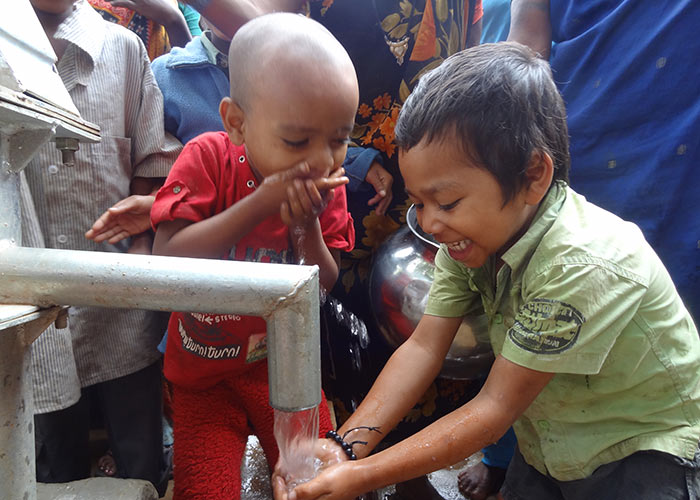 Fresh clean water in the heart of the community