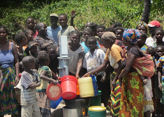 The Shilemi community with their new well
