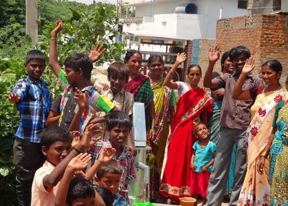 The Zinkalnagar B. Mattam community with their new well
