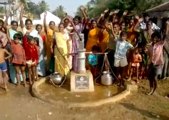 The Chenchu community with their new well