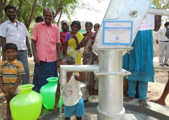 The Kammavaripalli village with their new well