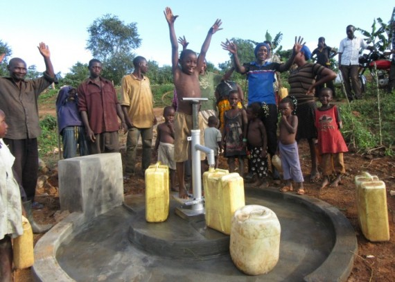 The joy of clean water in Magungu  village
