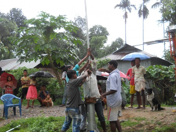 Installation of Handpump