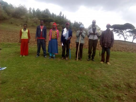 Jidda Woreda Wagna Dega Nisri kebele Gara Elemo Site Team photo
